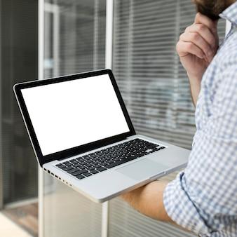 Businessman video conferening