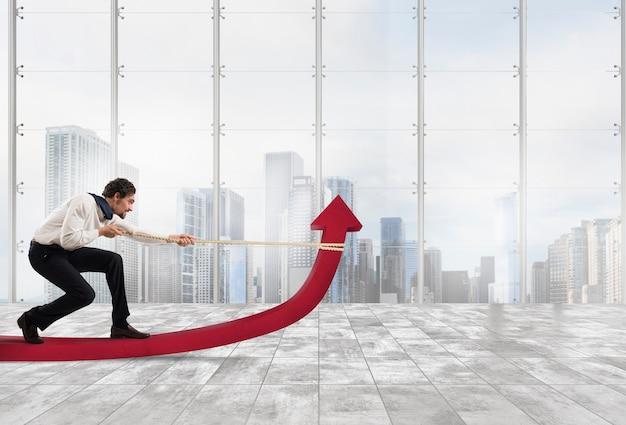 Бизнесмен хочет улучшить статистику компании