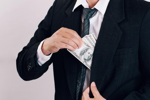 양복 pocket.leadership 개념에서 얻은 돈으로 사업가