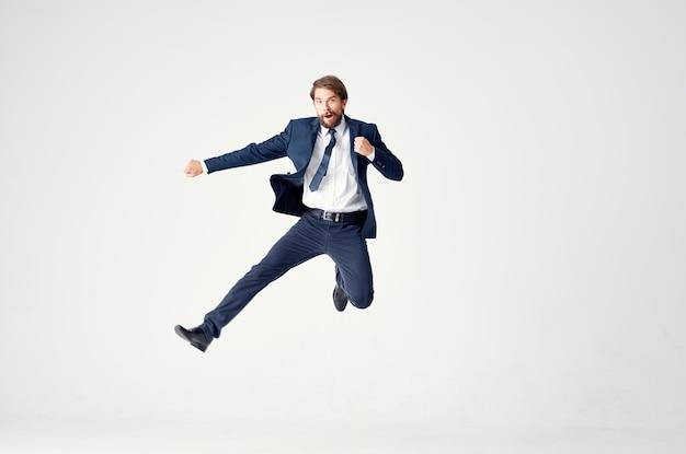 Businessmen emotions successful office studio