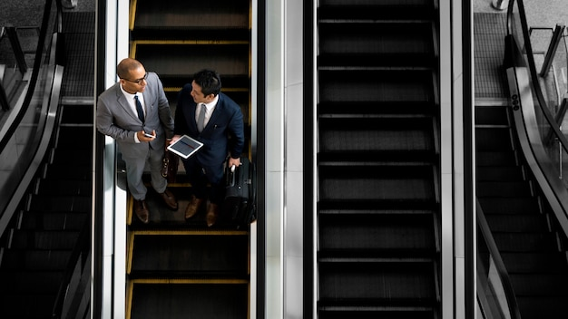 Businessmen on the move