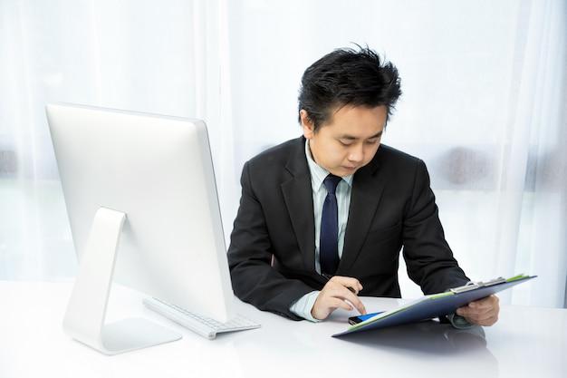 Businessmen working