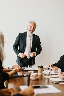 Businesspeople brainstorming in a meeting