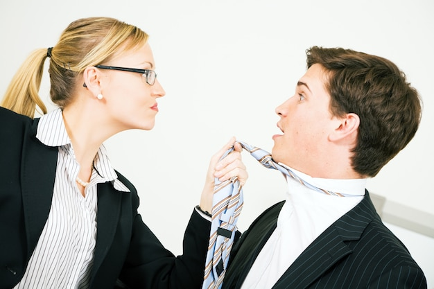 Businesspeople having an argument