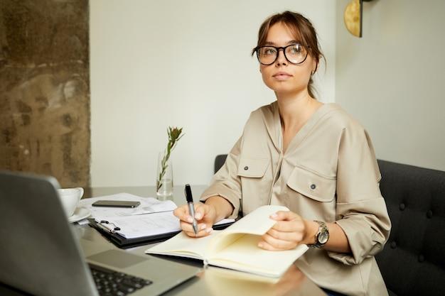 Businesswoman busy her work