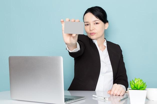 Businesswoman buying online