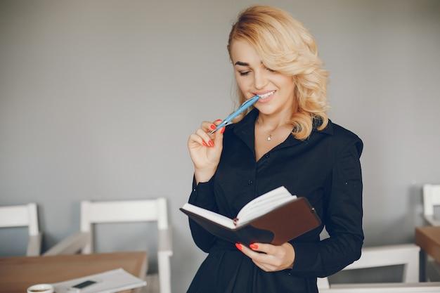 Businesswoman in a caffe