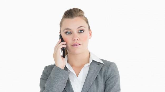 Businesswoman calling somebody
