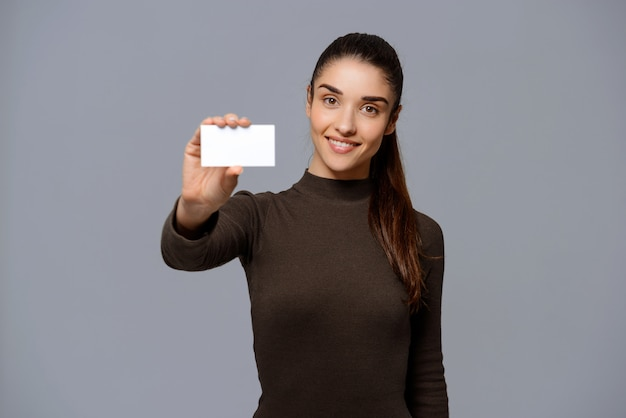 Businesswoman give you business card