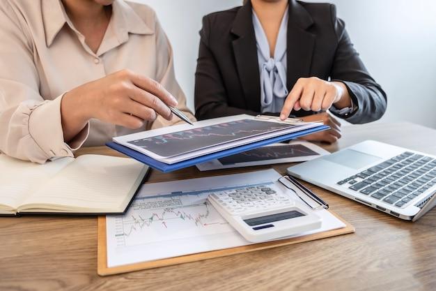 Businesswoman investor on meeting