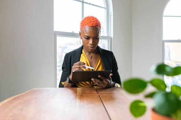 Businesswoman in an office meeting