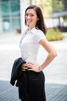 Businesswoman portrait in a modern urban setting