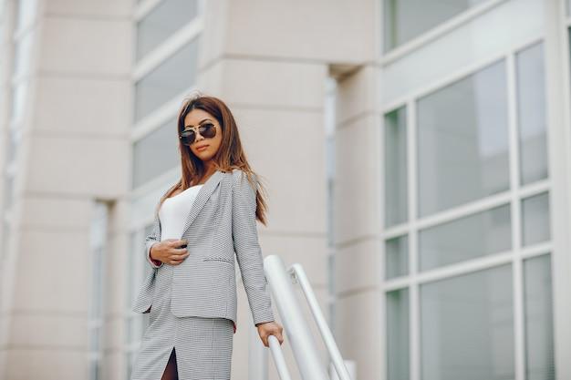 Businesswoman in a summer city