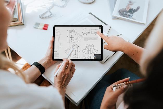 Businesswoman using a digital tablet