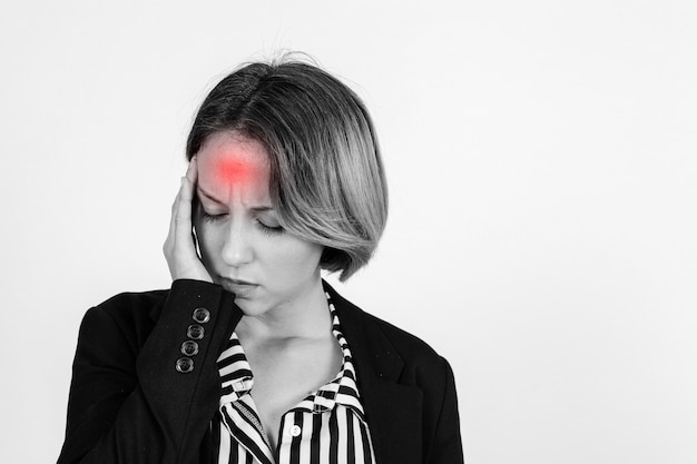 Businesswoman with headache