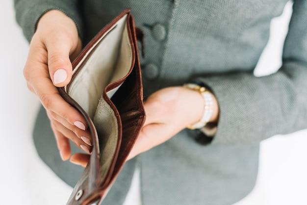 Businesswoman with money Premium Photo