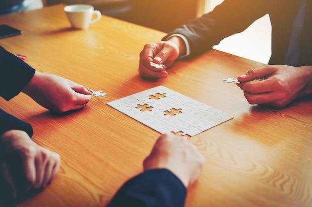 Бизнес, встречи и единство работы.