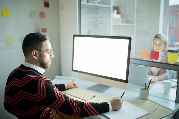 Busy designer creating website