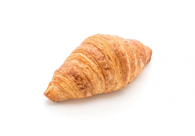 Butter croissant on white