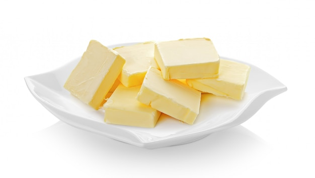 セラミックプレートのバター(美しい形)