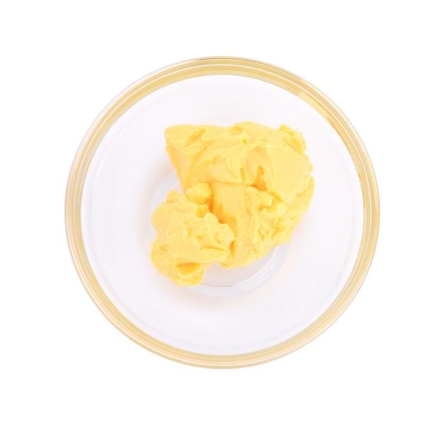 버터 흰색 절연입니다.