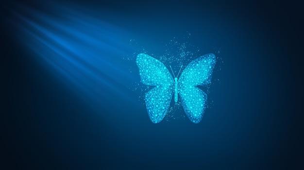 Бабочка состоит из многоугольника.