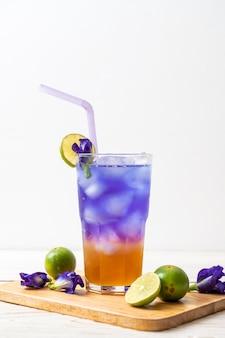 蜂蜜とライムと蝶エンドウ豆ジュース