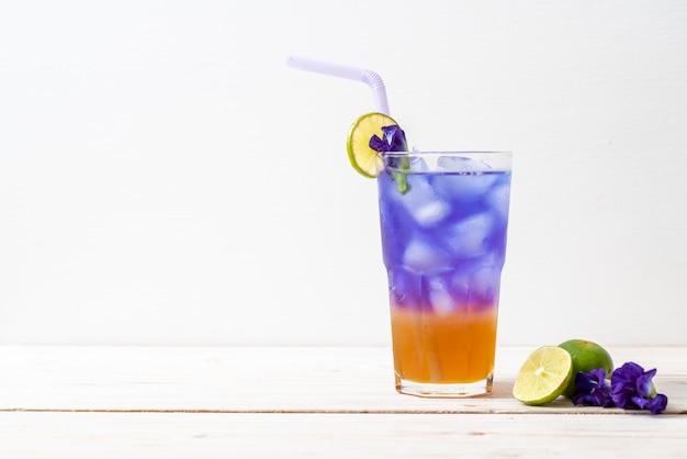 蜂蜜とライムの蝶エンドウ豆ジュース
