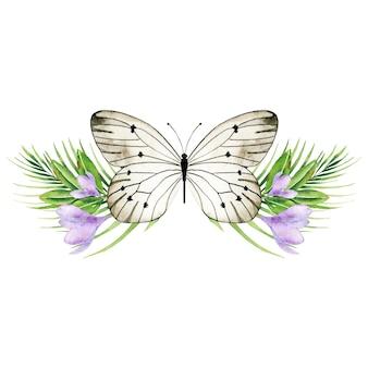 クロッカスの花でバタフライ