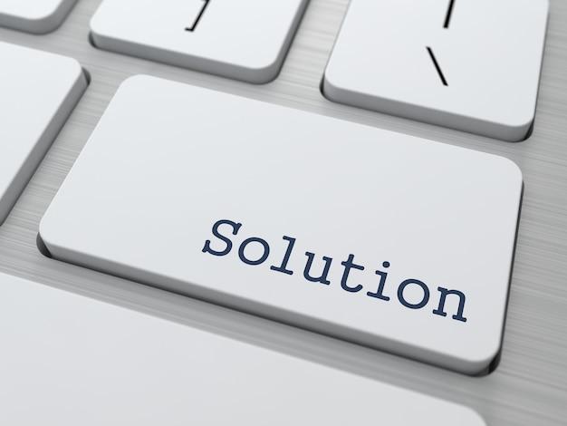 Кнопка на клавиатуре современного компьютера с решением слова на нем