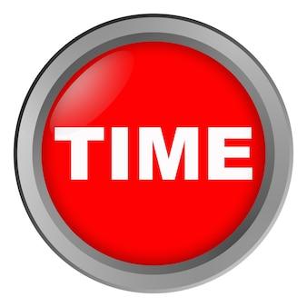 Кнопка с надписью времени