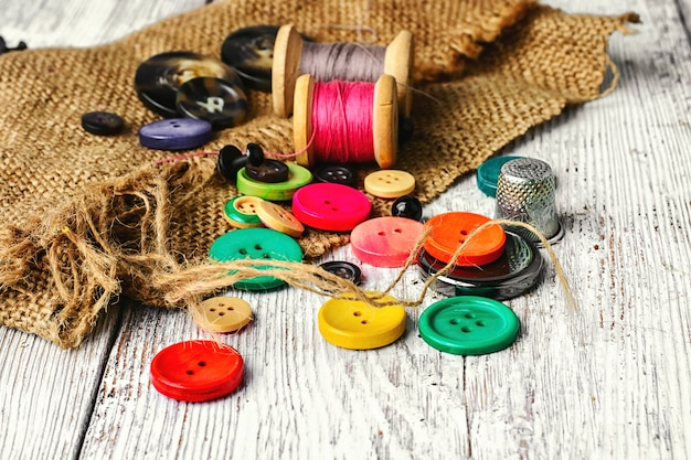 Buttons from clothing