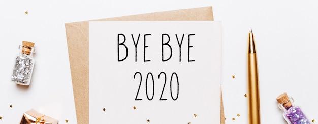 До свидания 2020 заметка о концепции с рождеством и новым годом