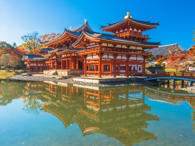 Byodoin temple, the world heritage in kyoto-japan.