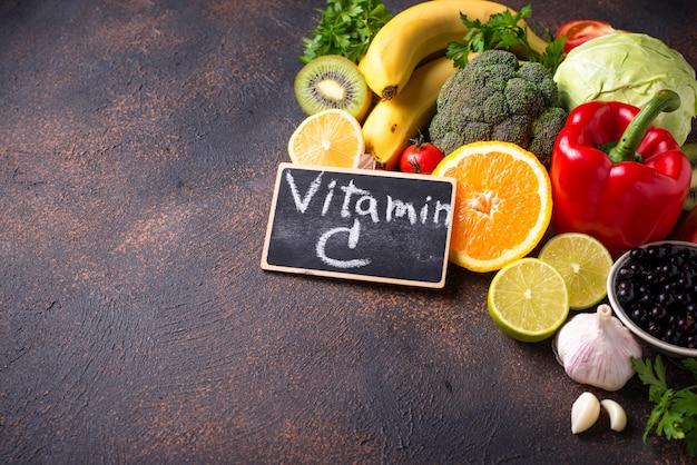 ビタミンcを含む食品。健康的な食事
