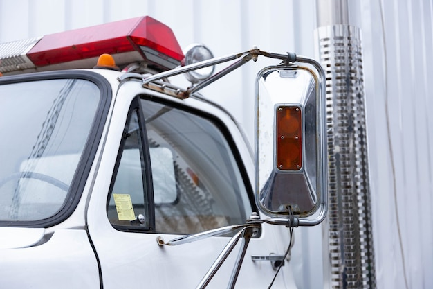Cab of a cargo, special tow truck.