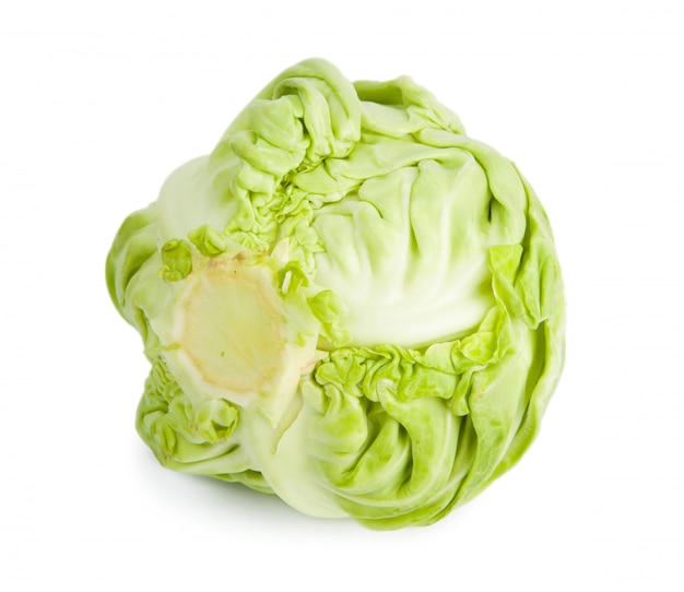 Cabbage isolated on a white