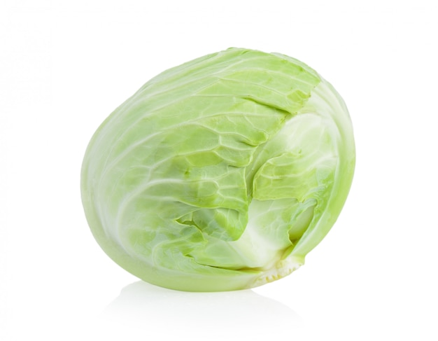 Cabbage on white isolated