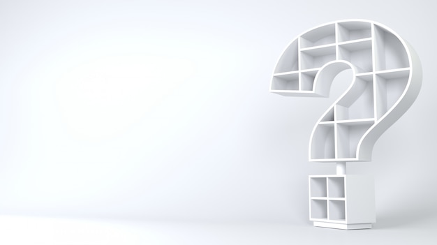 Cabinet in the form of a question mark.