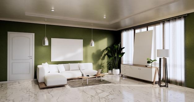 Cabinet in modern empty room zen style,minimalist designs. 3d rendering