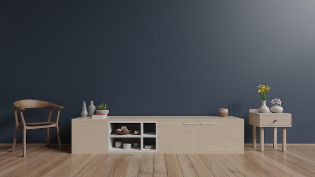 Cabinet in modern empty room