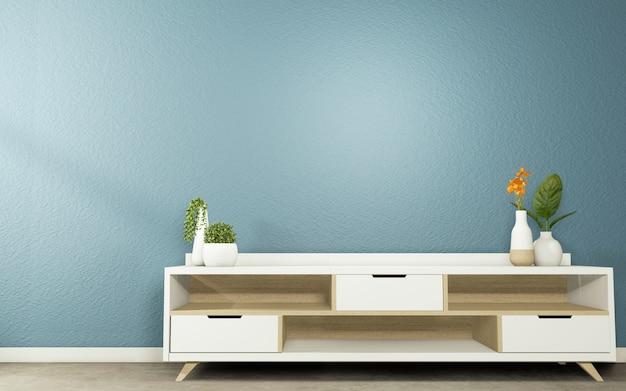 Cabinet tv는 어두운 방 일본식에 디자인을 모의합니다.