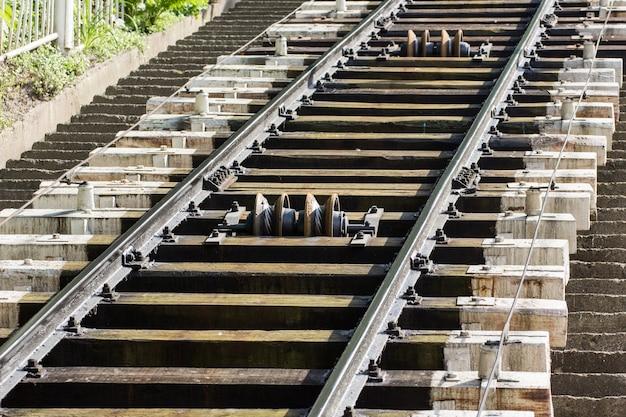 公園内のケーブル鉄道