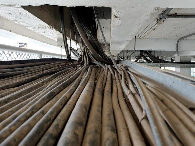 115kv変電所の電気制御ケーブルのケーブル配線