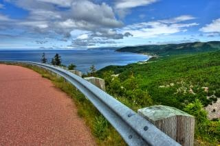 Cabot trail scenery   hdr  stock