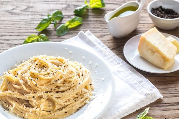 Cacio e pepe - спагетти с сыром и перцем