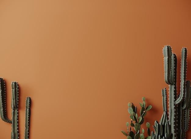 Cactus plant 3d rendering