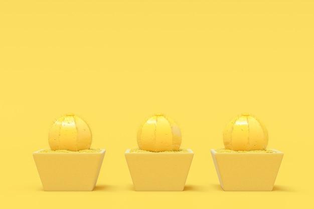 Cactus yellow pastel color