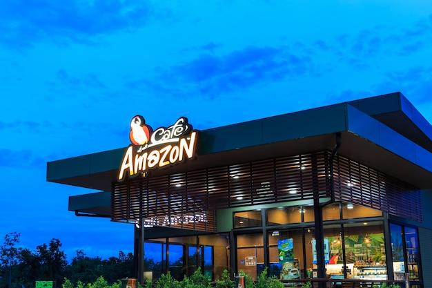 Cafe amazon beverage shop at ptt oil station