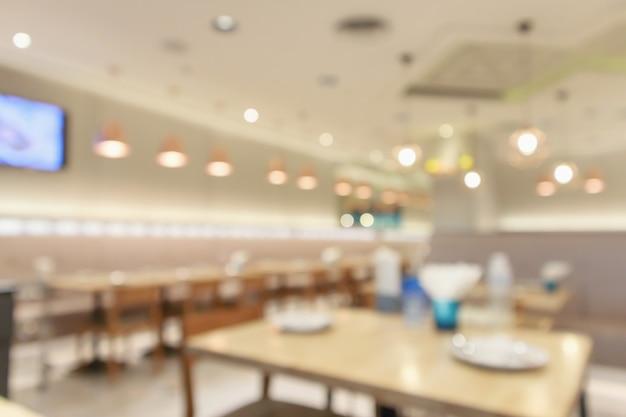 몽타주 제품 디스플레이 템플릿을 만들기위한 나뭇잎 빛 추상 defocused 흐림 배경과 카페 레스토랑 인테리어